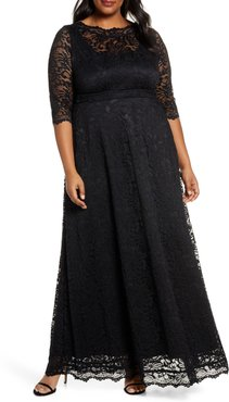 Plus Size Women's Kiyonna Leona Lace Evening Gown