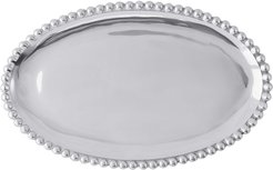 Pearled Trim Oval Platter