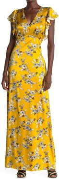 VERONICA BEARD Padma Floral Silk Blend Maxi Dress at Nordstrom Rack