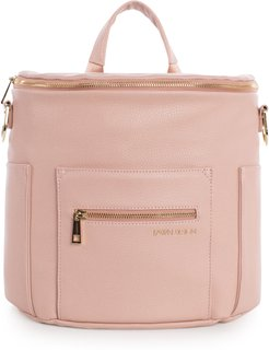 Infant Fawn Design The Mini Convertible Water Resistant Faux Leather Diaper Bag - Pink