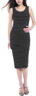 Tobi Stripe Maternity Dress