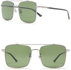 GUCCI 56mm Square Aviator Sunglasses at Nordstrom Rack