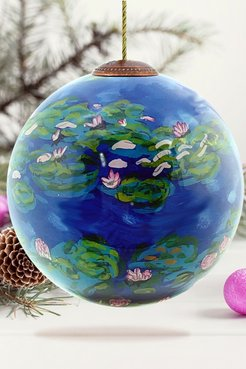 """Overstock Art """"Water Lilies"""" Claude Monet Hand Painted Glass Ornament Collection - Set of 4 at Nordstrom Rack"""