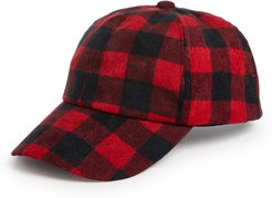 Buffalo Check Baseball Hat - Red