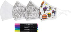 Assorted 4-Pack Adult Color Your Own Face Masks Kit
