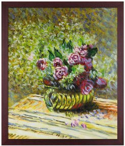 """Flowers in a Pot with Open Grain Mahogany, 22.5"""" x 26.5"""" at Nordstrom Rack"""