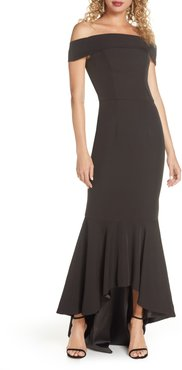 Shirley Off The Shoulder High/low Evening Gown