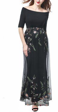 Willow Off The Shoulder Maternity Gown