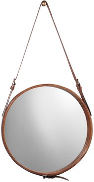Jamie Young Large Round Mirror - Brown Leather at Nordstrom Rack