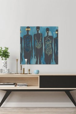 """Marmont Hill Inc. Bikini Class III Painting Print on Wrapped Canvas - 48""""x48"""" at Nordstrom Rack"""