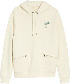 Classic Fit Embroidered Palm Tree Hoodie