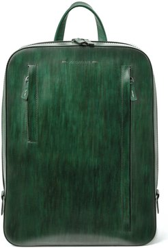 Leather Sport Backpack - Green