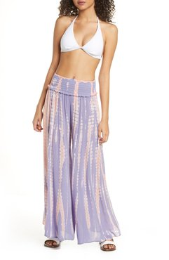 Tie Dye Wide Leg Cover-Up Pants