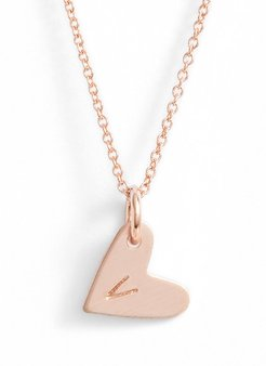 Initial Heart Pendant Necklace