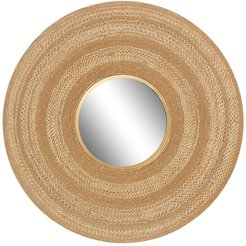 """Willow Row Large Gold Textured Metal Wall Mirror - 40"""" x 40"""" at Nordstrom Rack"""