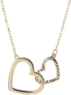 Candela 10K Yellow Gold Interlocking Hearts Pendant Necklace at Nordstrom Rack