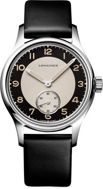 Heritage Classic Automatic Leather Strap Watch, 38.5mm