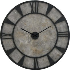 Willow Row Farmhouse Distressed Iron & Wood Round Wall Clock at Nordstrom Rack