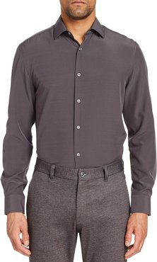 Extra Trim Fit Stretch Cool Temp Solid Dress Shirt & Pleated Face Mask