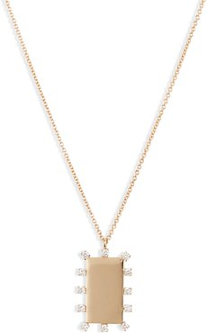Kiera Scattered Diamond Dog Tag Pendant Necklace (Nordstrom Exclusive)