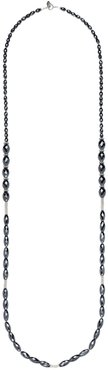 Anna Beck Sterling Silver Hematite Beaded Long Necklace at Nordstrom Rack