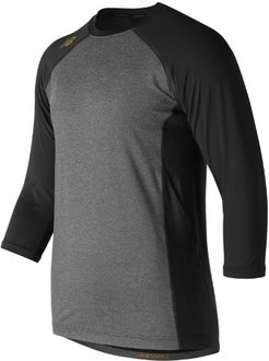 3/4 Sleeve 4040 Bold and Gold Compression Top