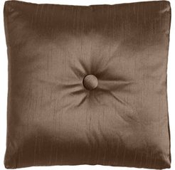 """Le Plaza Solid-Color Box Pillow with Button Center, 20""""Sq."""