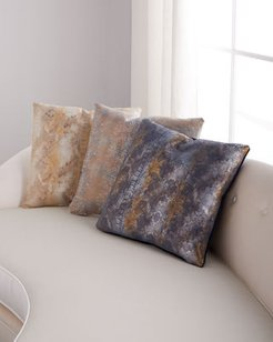 """Oil Printed Suede Pillow, 19""""Sq."""