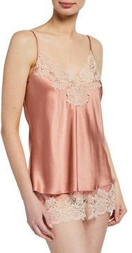 Pick-and-Mix Lace-Trim Silk Camisole
