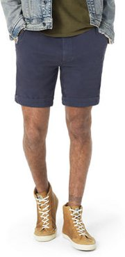 Flat-Front Twill Casual Shorts