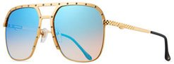 Axel Gold-Plated Aviator Sunglasses