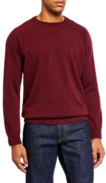 Solid Cashmere Raglan-Sleeve Sweater