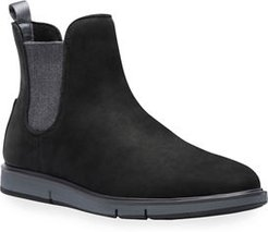 Motion Water-Resistant Suede Chelsea Boots