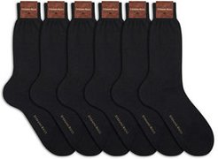 6-Pack Solid Cotton Socks