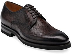 Melich II Pebbled Leather Derby Shoes