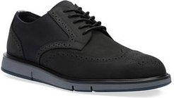 Motion Leather Wing-Tip Derby Shoes