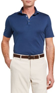 Zero Solid Jersey Polo Shirt