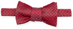 Square Pattern Silk Bow Tie