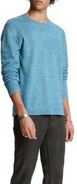 Solid Cashmere-Linen Sweater