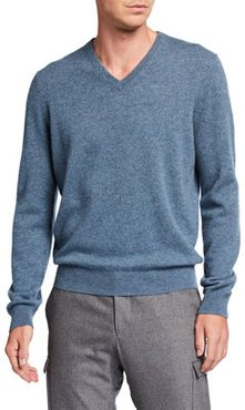 Cloud Solid V-Neck Cashmere Sweater