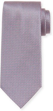 Woven Diamonds Silk Tie