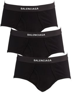 3-Pack Ribbed Logo Briefs