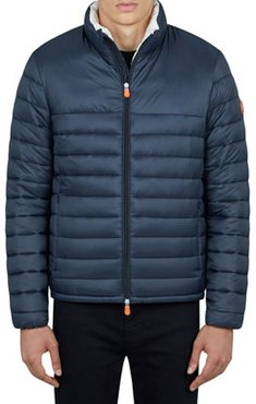 Solid Quilted Jacket w/ Contrast Tabs