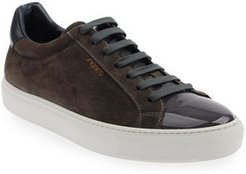 Mix-Leather Low-Top Sneakers