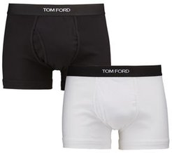 2-Pack Solid Jersey Boxer Briefs