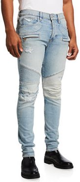 Blinder Biker V2 Distressed Slim Jeans