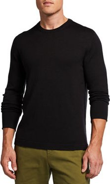 Larry Solid Wool Crewneck Sweater