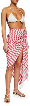Tulum Striped Knotted Coverup