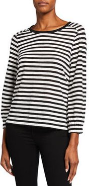 Melinda Striped Long-Sleeve Top