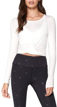 Muse Twist-Front Long-Sleeve Top